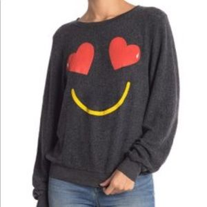 NWT WILDFOX Essential Smiling Hear Pullover